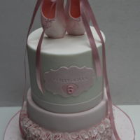 Make Your Pointe Ballet shoes made from Gumpaste and cakes were chocolate. Made for a little girl who loves Ballet.