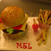Mel's Cheeseburger Cake Daughter Melissa's birthday cake for this year is a bit of a pun on the name. If you have ever seen American Graffiti you have seen...
