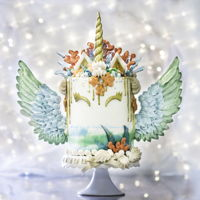 Mermaid Unicorn Cake Mermaid Unicorn Cake.©With Love & Confection | Veronica ArthurI designed this especially for my best friend on her birthday....