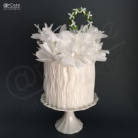 Mimosa a little wedding cake all made in waferpaper