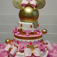 Minnie Mouse Birthday Cake used the cake ball pan to make tje Minnie mouse head