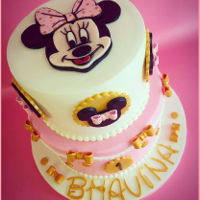 Minnie Mouse Cake First Birthday Cake