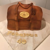 Mulberry Handbag Cake Mulberry Handbag Cake made with salted caramel cake.