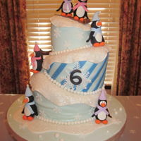 Penguin Cake My daughter has a January Birthday so we decided to have some fun with it and have her a 6th Brrr..thday Penguin Party. I made the the...