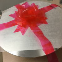Pink Gelatin Bow Pink Gelatin Bow...first try