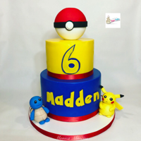 Pokémon Cake Pokémon cake with custom made figures