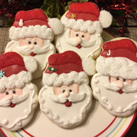 """santa Clause"" Sugar Cookies i used Wilton cookie cutter to make this cute Santa"