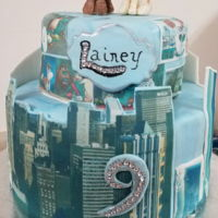 Secret Life Of Pets Hand sculpted figures adorn this fondant covered birthday cake