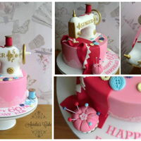 Sewing Machine Cake   Sewing machine cake