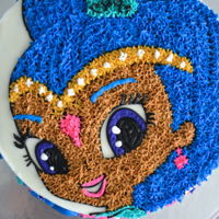 Shimmer And Shine Cake Once you cut into you see blue!