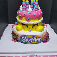 Shopkins Cake This is my first time to make a shopkins cake, it is for my little daughter on her 6th birthday party! She just loves it!