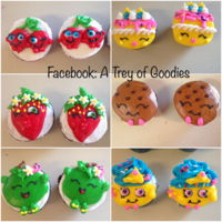 Shopkins Cupcakes Shopkins cupcakes iced and decorated in Buttercream Icing.