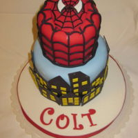 Spiderman Birthday Cake Spiderman Birthday Cake. All fondant.