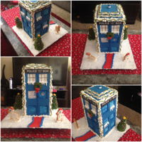 Sugar Cookie Doctor Who Tardis I made this Tardis out of sugar cookie. Iced in royal icing. Police box and information are just paper cut outs. Two llamas are from...