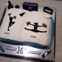 Sweet 16   Book is a vanilla cake with buttercream filling. Edible pictures and fondant decorations