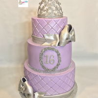 Sweet 16 Cake Lavender sweet 16 cake with custom made tiara