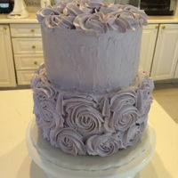 Swiss Merengue Buttercream Cake Violet Birthday Cake, vanilla sponge, smbc