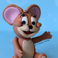 Tom And Jerry Fondant Cake Topper Tom and Jerry fondant cake topper.