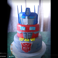 Transformers Maximus Prime - all fondant covered with edible markers in some areas