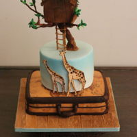 Tree House Cake The customer listed her friend's favourite things as travel, tree houses and giraffes! So I decided to combine all of these...