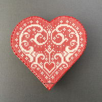 Valentine's Heart | Sweet Prodigy This is a large sugar cookie with a needlepoint filigree heart pattern