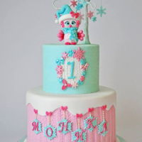 Winter Owl Adorable cake for an adorable little girl first birthday