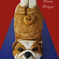 Yoga Bulldog This was my daughter Birthday cake from last year.She's crazy about Bulldogs!!100% Cake!! Ana Remígio xxx CUPCAKES &...