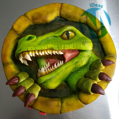 Dinosaur Pop Up Cake