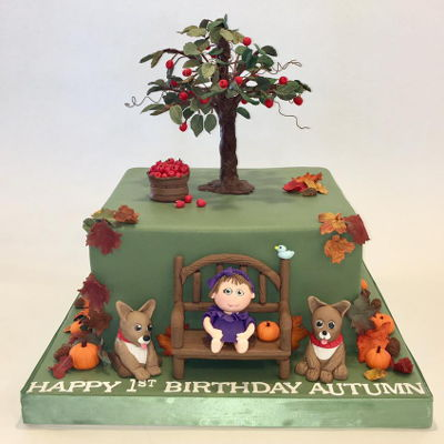 Fall 1St Birthday Cake