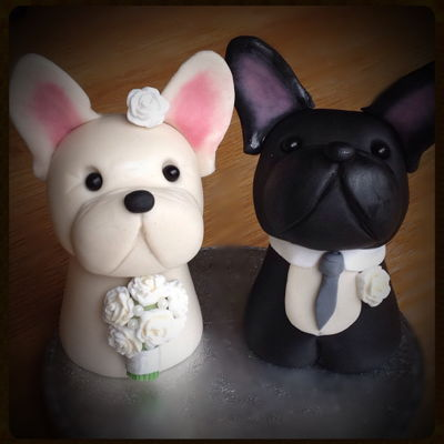 French Bulldog Wedding Cake Toppers