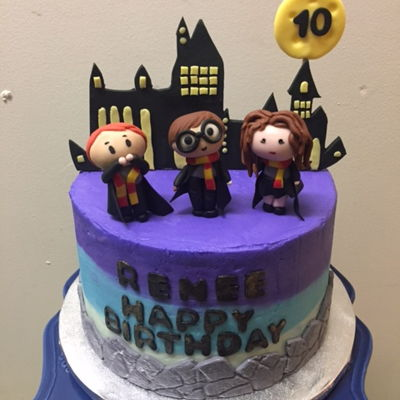 Harry Potter Birthday Theme Cake