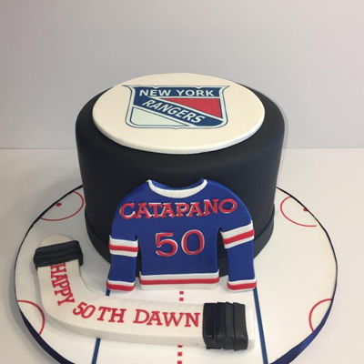 Ny Rangers 50Th Birthday Cake