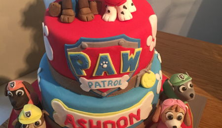 how to make chase paw patrol cake