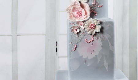 "Wedding Cake ""rose Quartz & Serenity"""