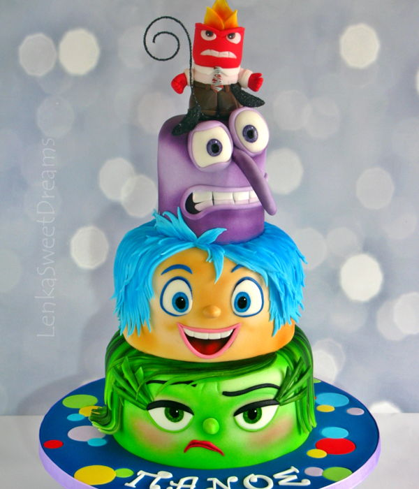 Inside Out Birthday Cake.