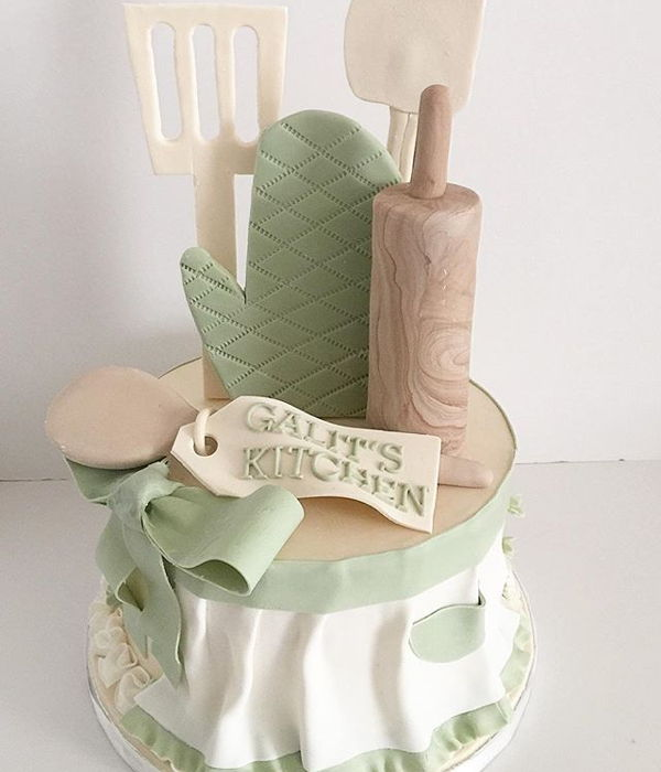 Kitchen Bridal Shower Cake