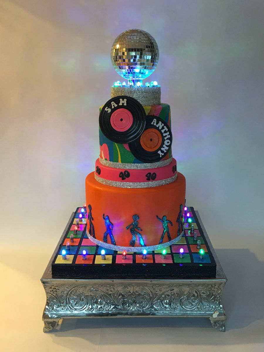 Disco Themed Birthday Cake