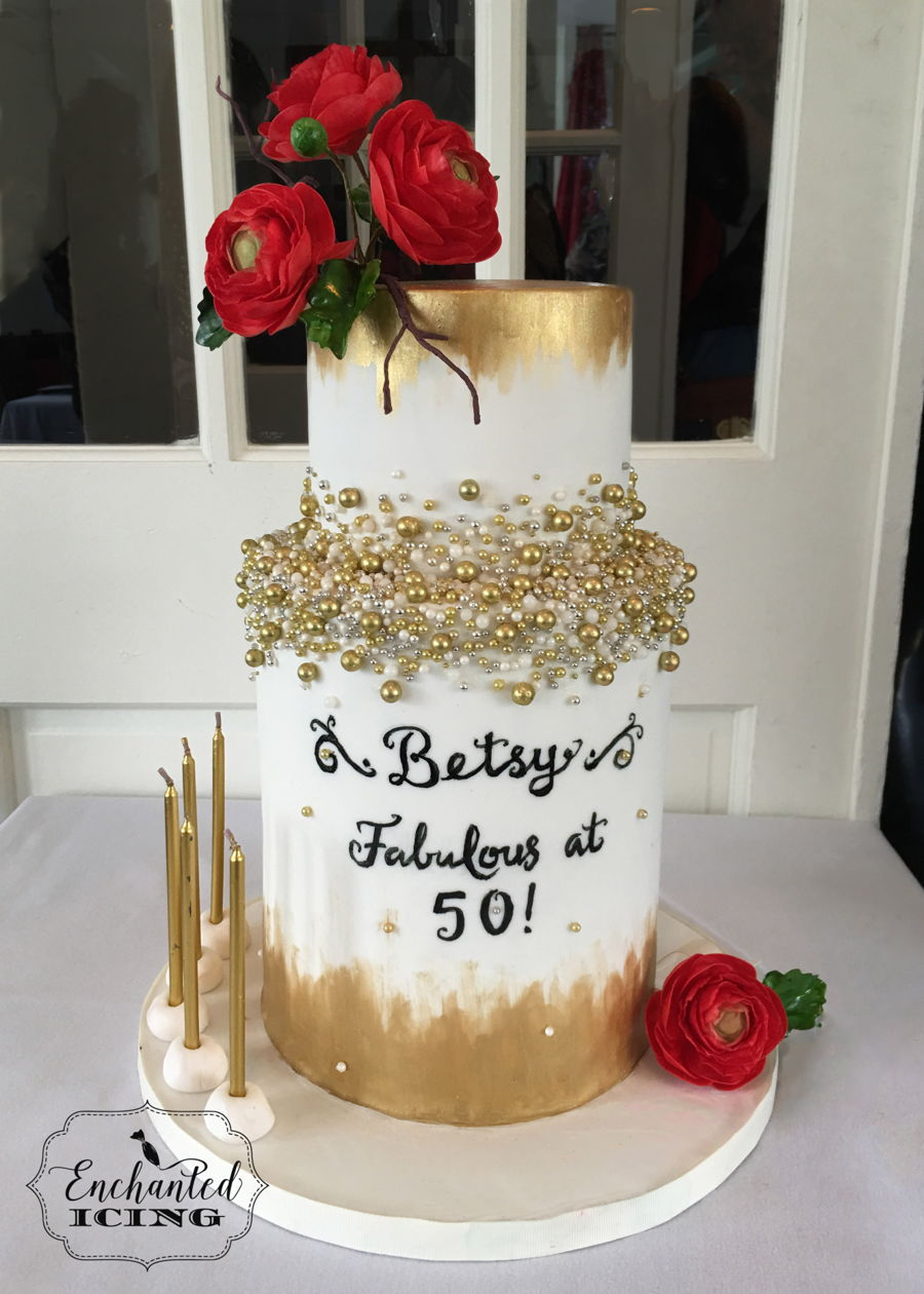 Betsy's Fabulous 50Th on Cake Central