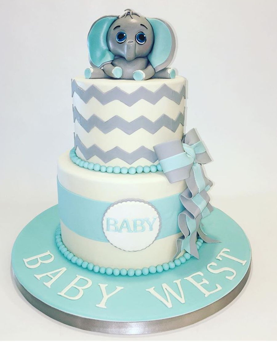 Baby Elephant Shower Cake on Cake Central