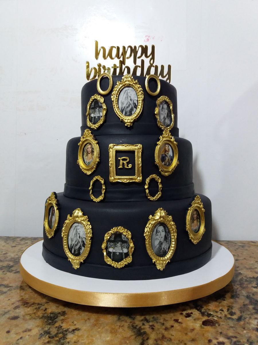 Strange Beyonce Cake Cakecentral Com Personalised Birthday Cards Veneteletsinfo