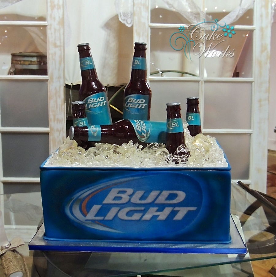 Bud Light Ice Chest On Cake Central