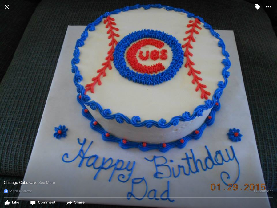 Admirable Chicago Cubs Cake Cakecentral Com Funny Birthday Cards Online Ioscodamsfinfo