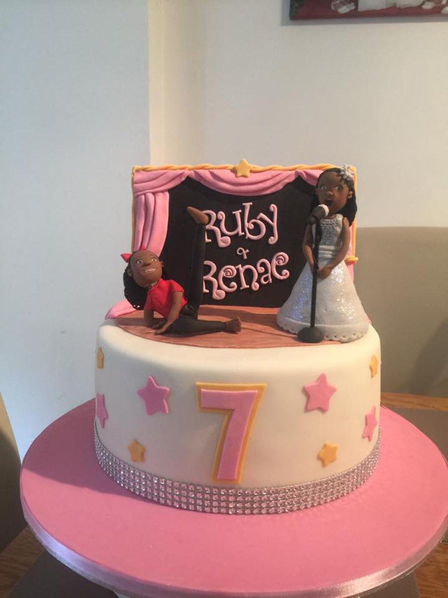 Dancer Singer Stage Cake Cakecentral Com