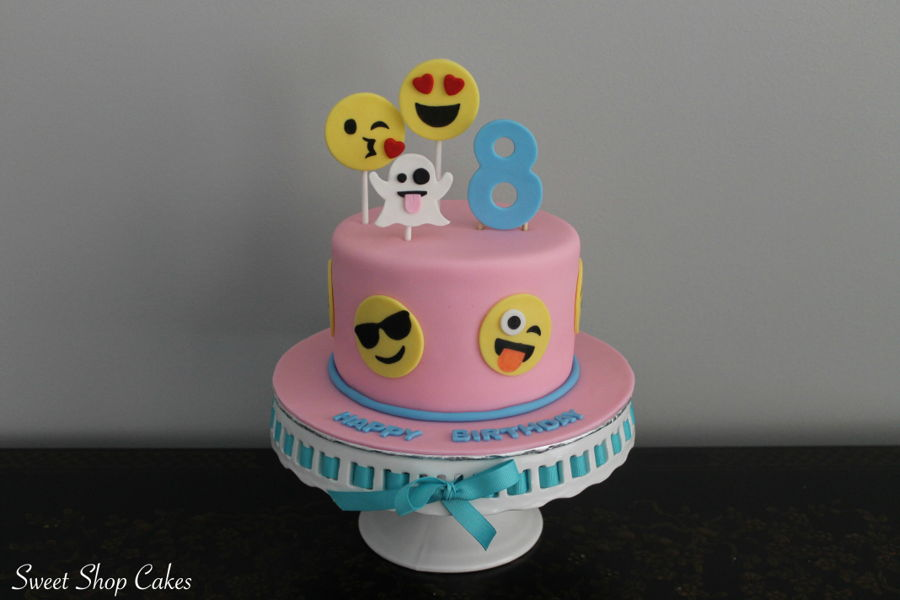 Emoji Themed Birthday Cake Cakecentral