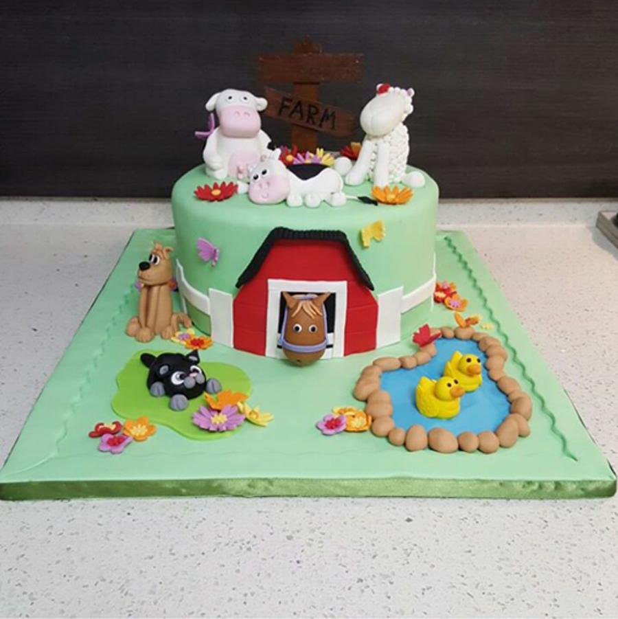Cake Decoration Farm Theme : Farm Themed Cake - CakeCentral.com