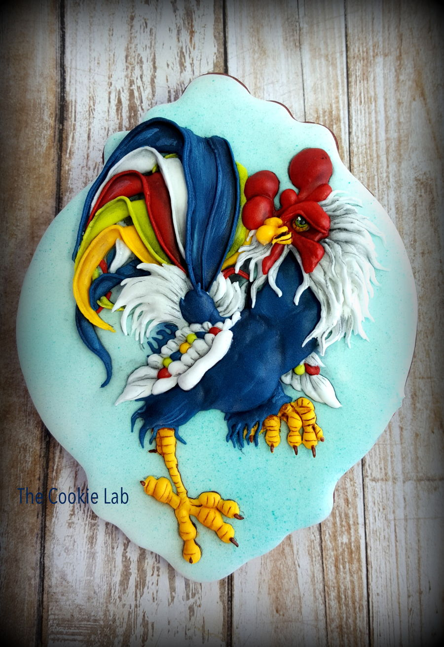 Happy New Year - Rooster on Cake Central