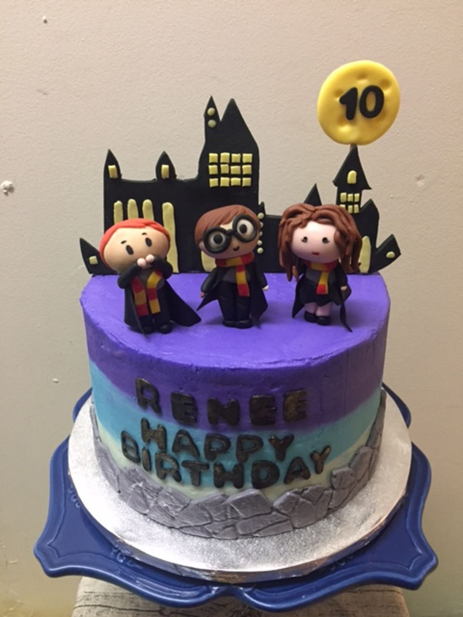 & Harry Potter Birthday Theme Cake - CakeCentral.com