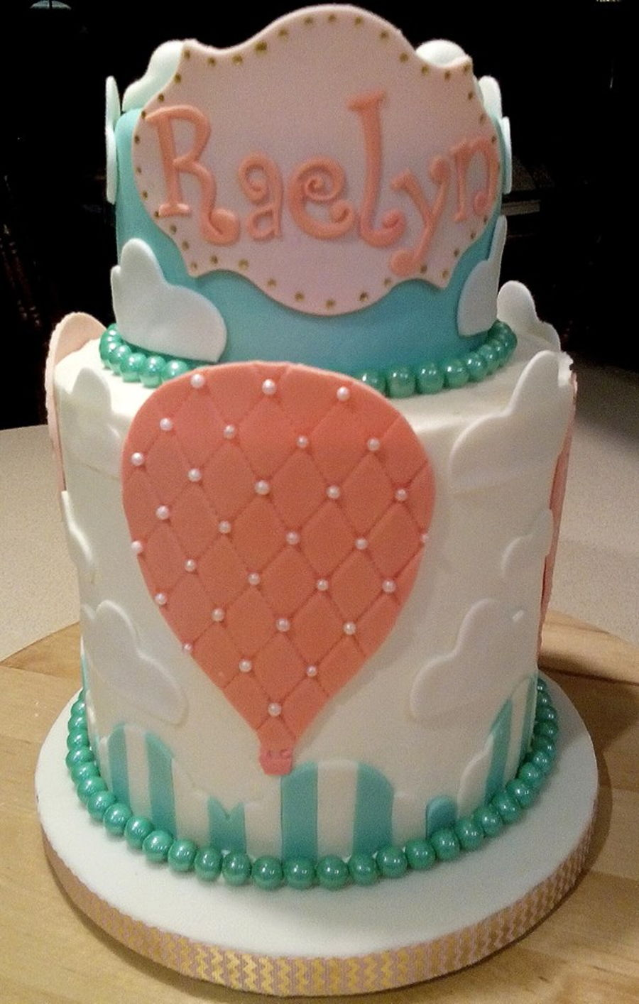 Hot Air Balloon Baby Girl 1st Birthday Cake Cakecentral