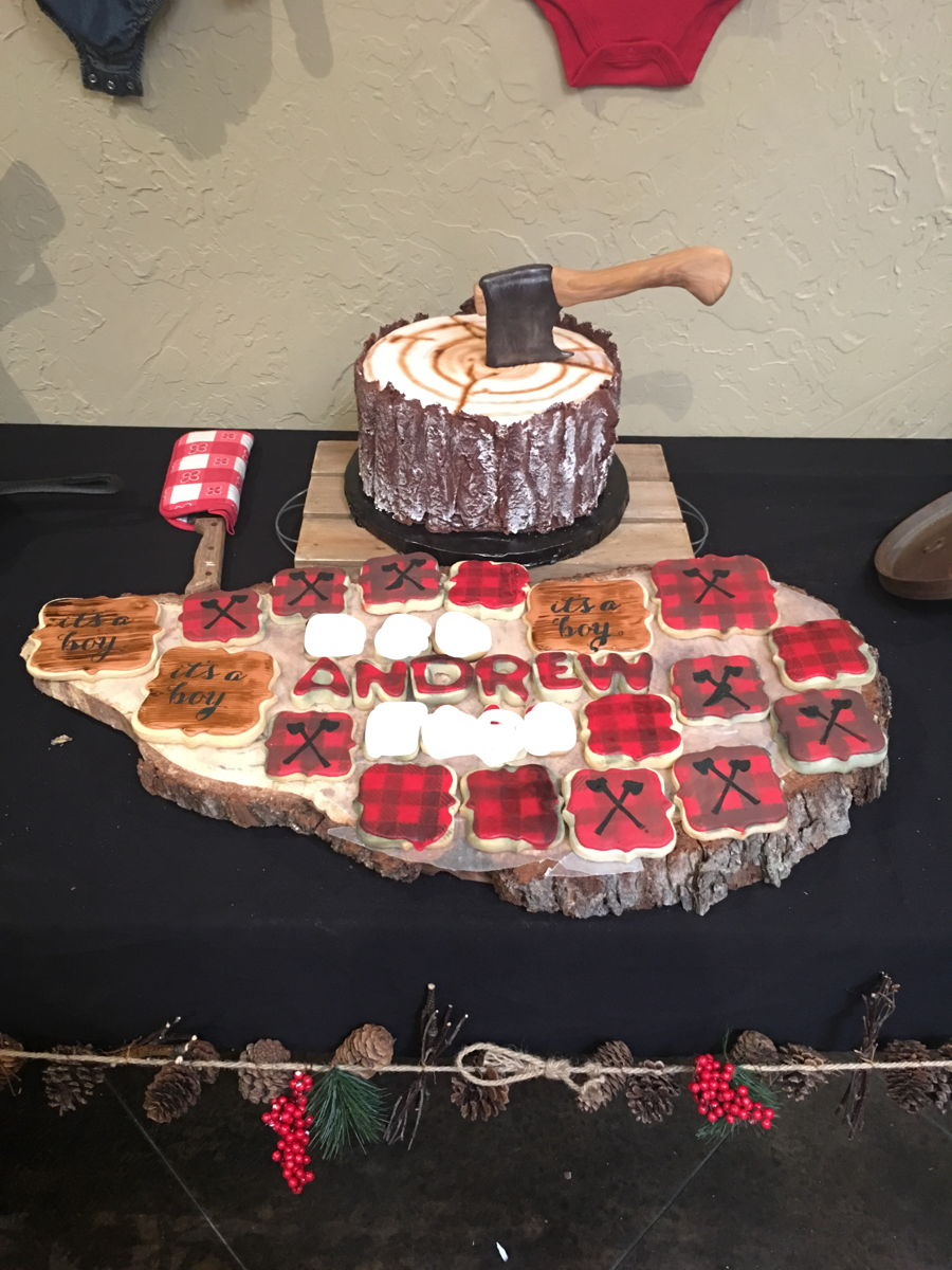Plaid Cake Decorating