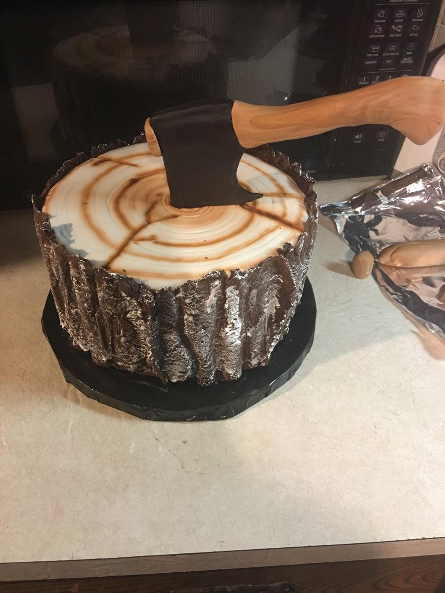 Lumberjack Plaid Cake Cakecentral Com